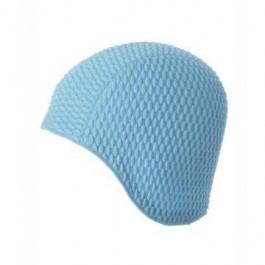 Ladies Bubble Swimming Hat Turquoise Blue