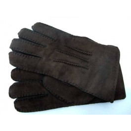 Mens Luxury Full Sheepskin Gloves. Coffee Brown. Size Large