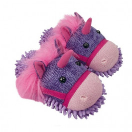 Aroma Home Fuzzy Friends Slippers - Unicorn