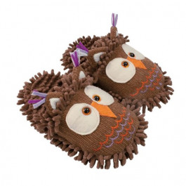 Aroma Home Fuzzzy Friends Owl Slippers