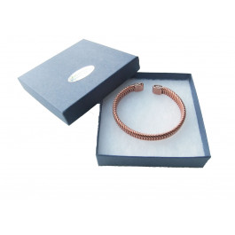 copper bracelet is herringbone design for men