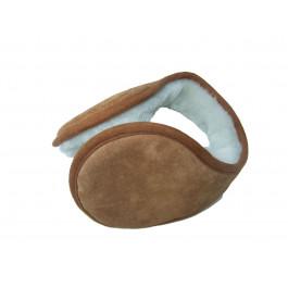 Tan Sheepskin Ear Muffs Luxurious Soft clip around without head band