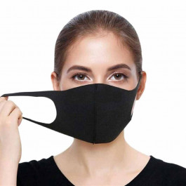 Face Mask Black, re-useable, Washable
