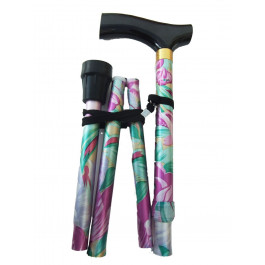 flower folding walking stick