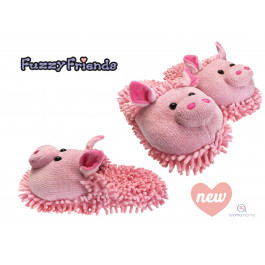 Aroma Home Fuzzy Friends Slippers - Pig