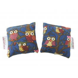Lavender Scented Microwavable Hand Warmers Pair - Blue Owl by Simply Unearthed