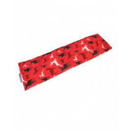 Premium Hot and Cold Pack Non Lavender 100% Cotton Reindeer Design Microwave Wheat Bag - Red