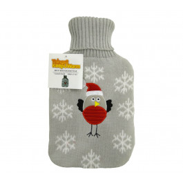 Cute Plush and Cuddly Knitted Robin Hot Water Bottle