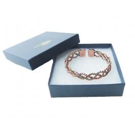 ladies 3 colour copper magnetic bracelet