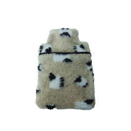 1 litre Hot Wheat Bottle - Exclusive Design - Cream Sheep Sherpa