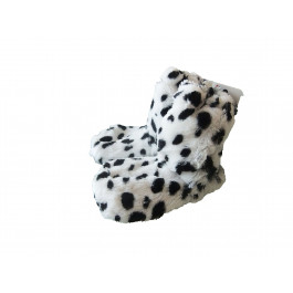 Snuggles Microwave Ladies Boot Slippers, Size 4-7, Spotted Dog