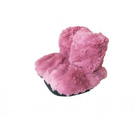 Snuggles Microwave Ladies Boot Slippers, Size 4-7, Rose