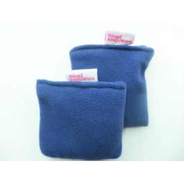 Microwavable Pair of Hand Warmers T2K- Non Scented Wheat Warmers Navy