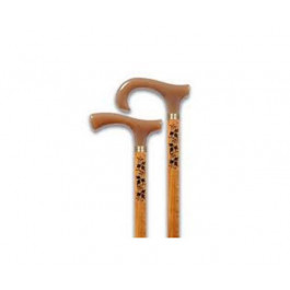 wooden walking stick caramel handle