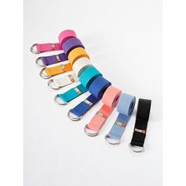 Yogamatters d-ring yoga belt - Hot Pink