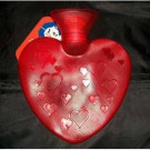 Fashy Red Heart Shaped Hot Water Bottle