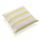 Small Fashy Heat Pack with Grape Seed Filling Green Pink Stripes