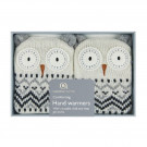 Aroma Home Re-usable Owl Knitted Pocket hand warmers