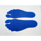BareFeet Foot Protection Pads Earth Grounding Yoga Foot pads - Blue