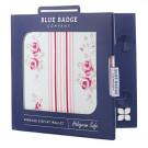 Blue Badge Display Wallet  - Floral Design - Cathy