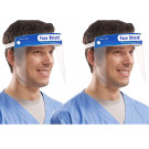 Amazing Health Protective Safety Shield, Visor, Anti Fog UK Seller - Blue (Pack of 2)