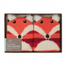 Aroma Home Fox Knitted Gel Hand Warmer - Brown