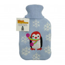 Cute Plush and Cuddly Knitted Penguin Hot Water Bottle