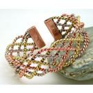Wide Lace 3 Colour Magnetic Bracelet