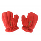Pair of Microwave Hand Warmers - Hot Mitts Medium Red