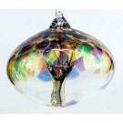 Orb Tree of Life Small Glass Globe - Multicoloured