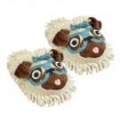 Aroma Home Fuzzy Friends Slippers - Pug