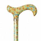 sunflower patterned adjustable derby cane