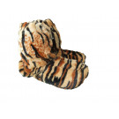 Snuggles Microwave Ladies Boot Slippers, Size 4-7, Tiger