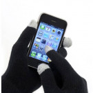Men's Knitted Touch Screen Gloves with grey tips for touch screen phones