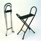 Quattro walking stick webbed seat - 34""