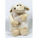 Sheep Hot Water Bottle with Fleece Cover - White