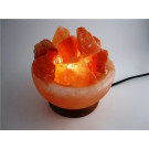 Himalayan Salt Crystal Fire Basket Lamp