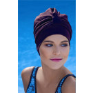 Ladies Brown Turban Swimming Hat Cap Fashy