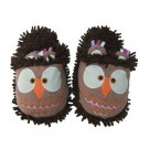 aroma home slippers owl brown