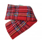Unscented Heat Pack Plush Fleece Tartan Check Microwave Wheat Bag - Red
