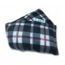 Lavender Heat Pack Plush Fleece Tartan Check Microwave Wheat Bag - Black