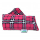 Unscented Heat Pack Plush Fleece Tartan Check Microwave Wheat Bag - Cerise
