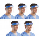Amazing Health Protective Safety Shield, Visor, Anti Fog UK Seller - Blue (Pack of 5)