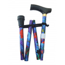 folding walking stick leafy purple