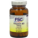 FSC 500mg Niacinamide Vitamin B3 - Pack of 60 Vegetarian Capsules