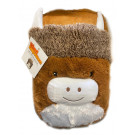 Highland Cow Foot Warmer with 2 litre Hot water bottle – Foot Muff Brown