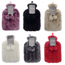 Plain furry Hot Water Bottle Assorted Colours