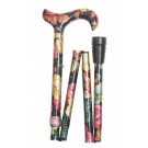 folding walking stick dark multi coloured
