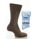 Mens Gentle Grip Patterned Socks