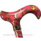 Fashionable patterned walking sticks for women